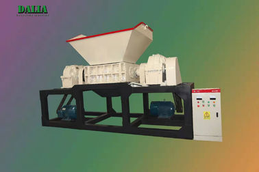 High Performance Scrap Metal Shredder , Double Shaft Shredder 9 - 12r/min Spindle Speed