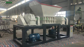 Strap Recycling Double Shaft Shredder Machine High Torque Density 12 Months Warranty